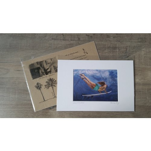SurfArt SurfArt Print Duck Dive Blue