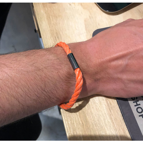 SurfArt SurfArt Ocean Trash Bracelet Orange Single