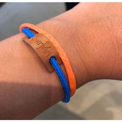 SurfArt SurfArt Ocean Trash Bracelet Orange/Blue Double
