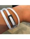 SurfArt Ocean Trash Bracelet White Triple