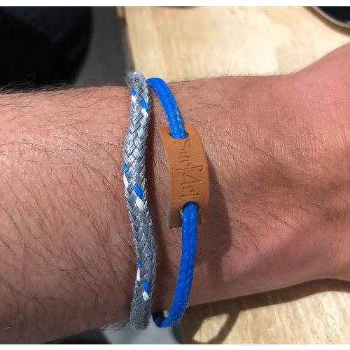 SurfArt SurfArt Ocean Trash Bracelet Blue/Grey Double