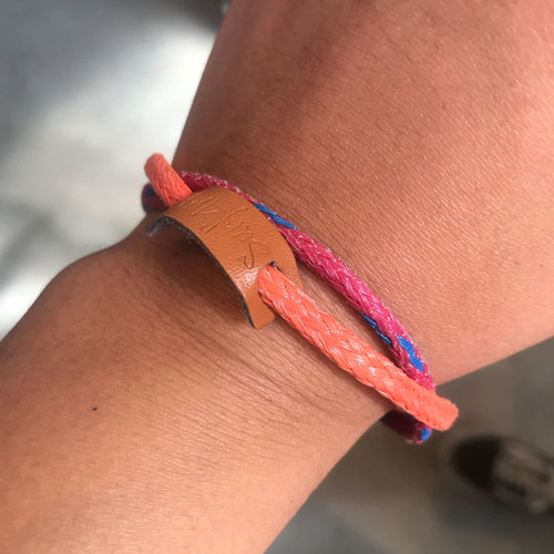 SurfArt SurfArt Ocean Trash Bracelet Orange/Red Double