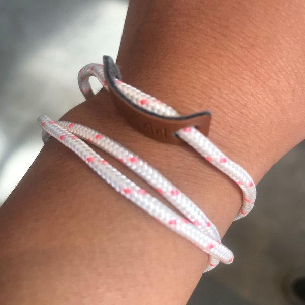 SurfArt Ocean Trash Bracelet White/Pink Triple