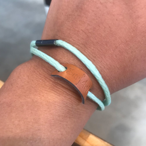 SurfArt SurfArt Ocean Trash Bracelet Mint Double