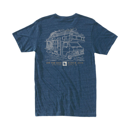 Hippy Tree Hippy Tree Heren Roadside Tee Heather Navy