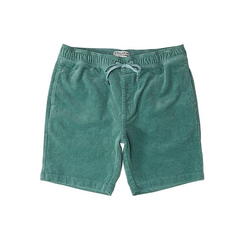 Billabong Billabong Heren Larry Layback Cord Shorts Dust Green