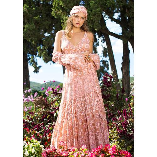 Isla Ibiza Isla Ibiza Dames Maxi Dress Terra