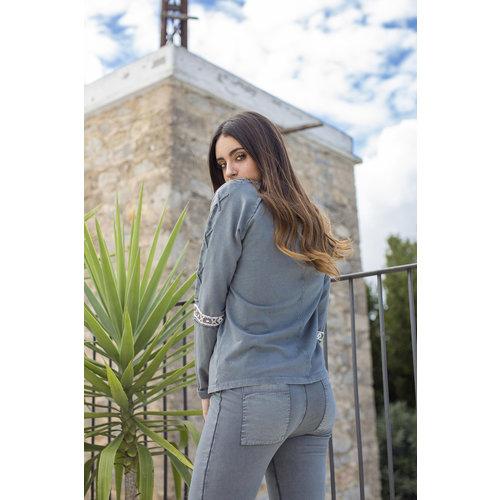 Isla Ibiza Isla Ibiza Dames Sweater Antra