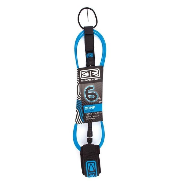 O&E 6ft Regular Comp Leash Blue