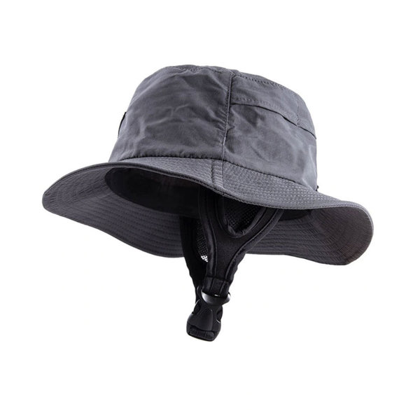 O&E Indo Stiff Peak Surf Hat Black