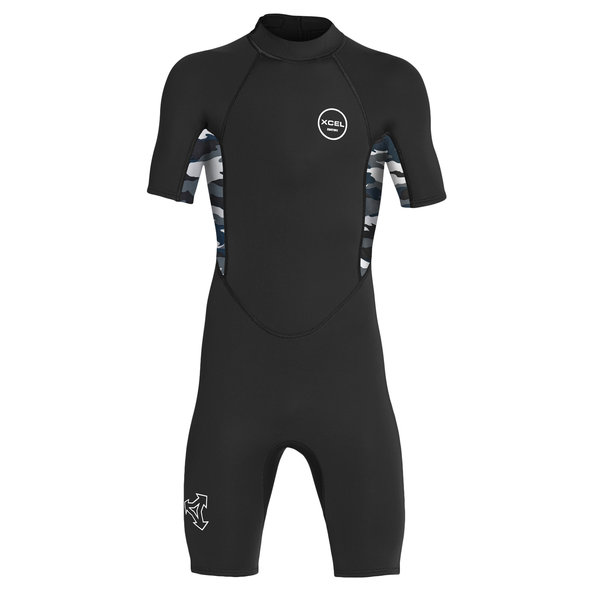 Xcel Axis 2mm Kinder Wetsuit Shorty Black/Snow