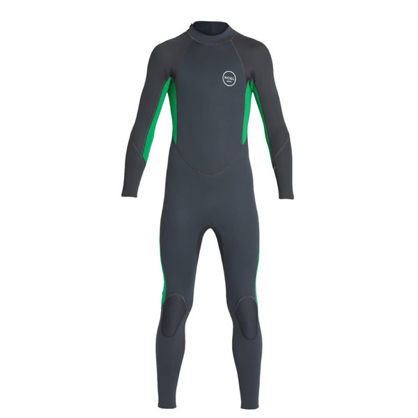 Xcel Axis All Nylon 3/2 Kinder Zomer Wetsuit Graphite/Green