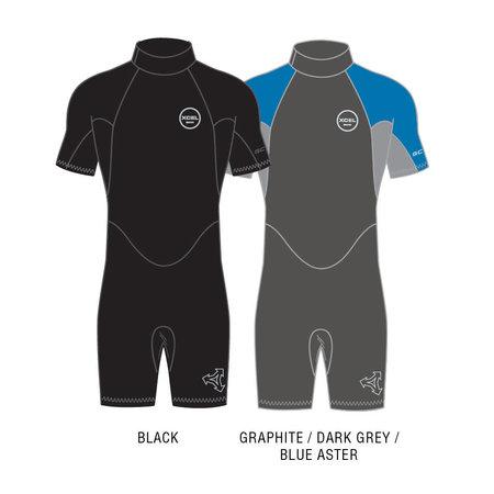 Xcel Xcel GCS 2mm Heren Wetsuit Shorty Graphite/Blue