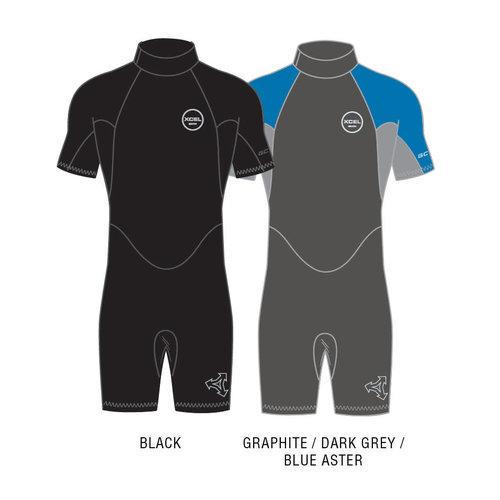 Xcel Xcel GCS 2mm Men's Wetsuit Shorty Graphite/Blue