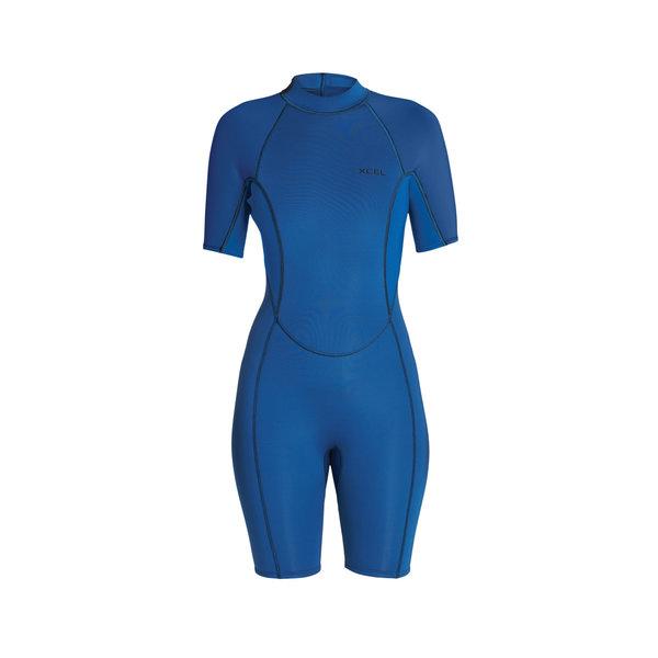 Xcel Axis 2mm Dames Wetsuit Shorty Faint Blue