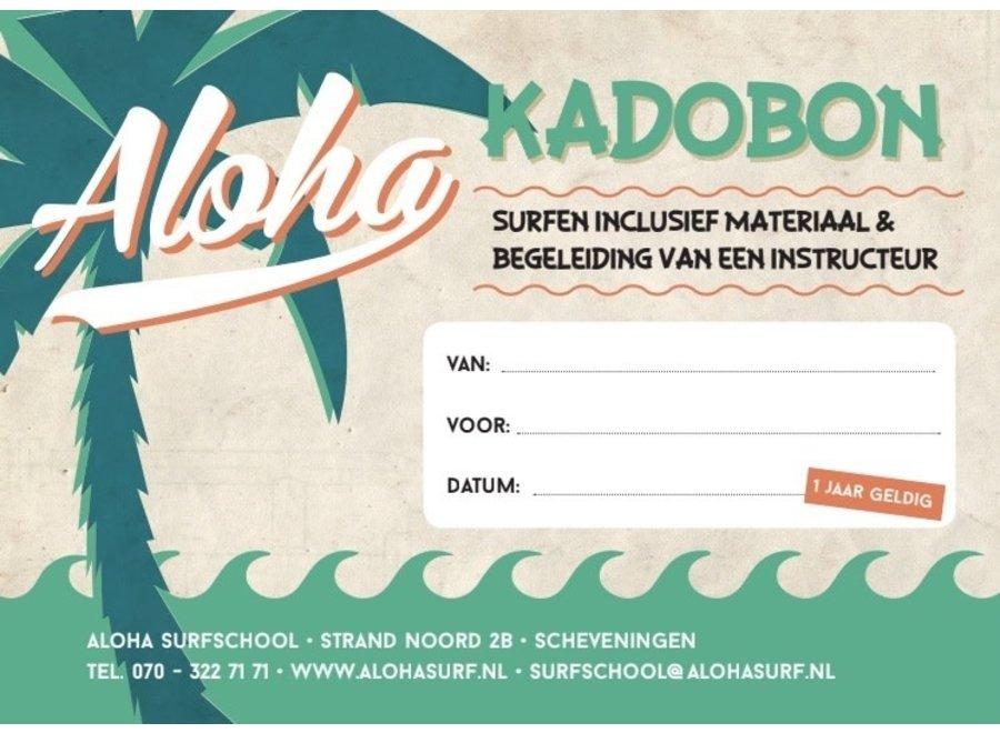 Aloha Kadobon Aloha Surfdag 1 Persoon
