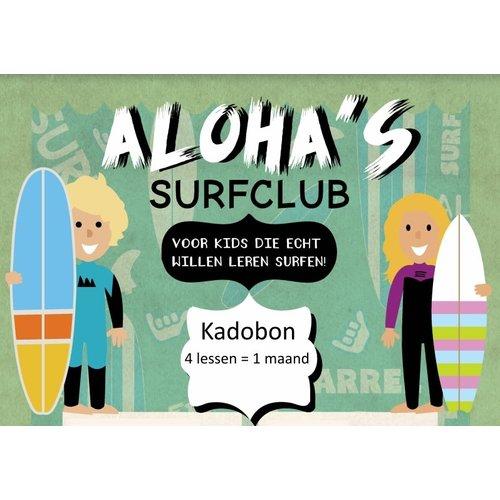 Aloha Surf Huismerk Kadobon Aloha's Surfclub 4x 1 Persoon