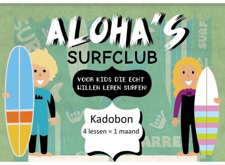 Aloha Kadobon Aloha's Surfclub 4x 1 Persoon