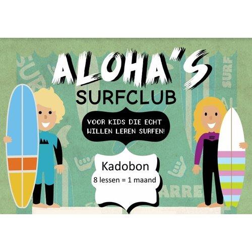 Aloha Surf Aloha Kadobon Aloha's Surfclub 8x 1 Persoon