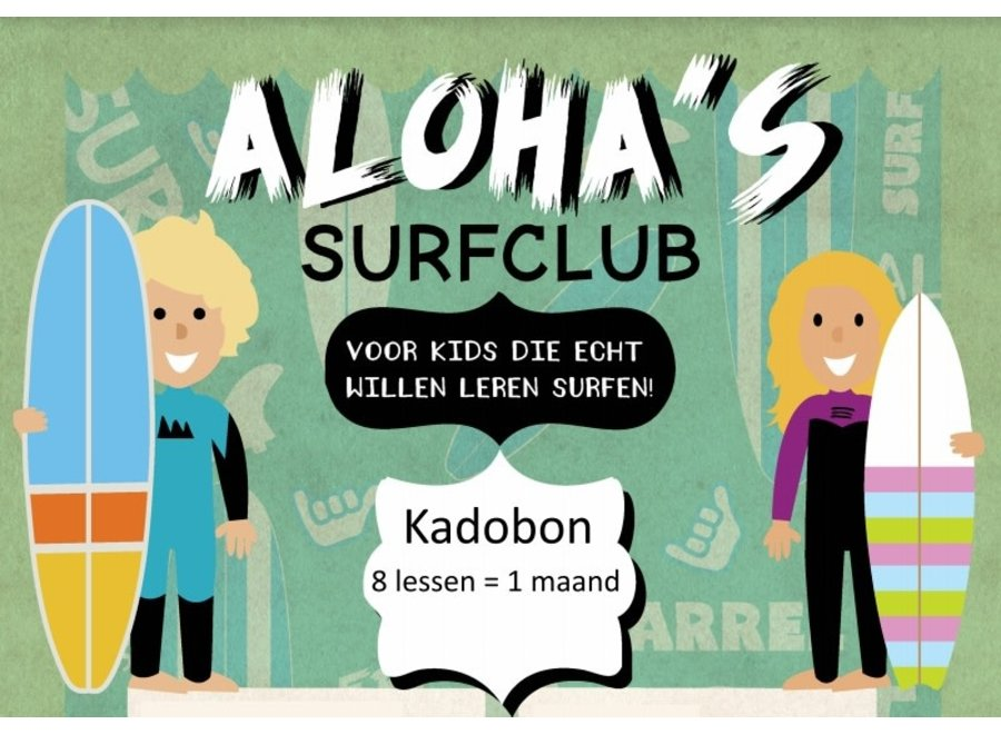 Aloha Kadobon Aloha's Surfclub 8x 1 Persoon