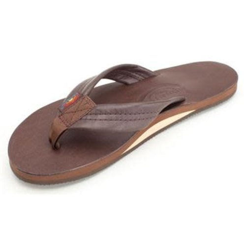 Rainbow Sandals Rainbow Heren Classic Mocha Leather Single Layer Arch Sandals
