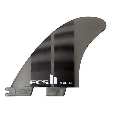 FCS FCS II Reactor Neo Glass Thruster Fins Charcoal Gradient