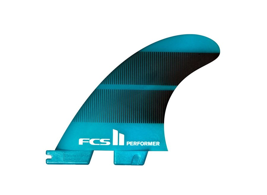 FCS II Performer Neo Glass Thruster Fins Teal Gradient