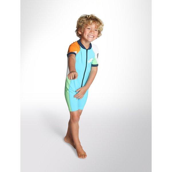 C-Skins Baby Lycra Shorty Turquoise/Orange/Green