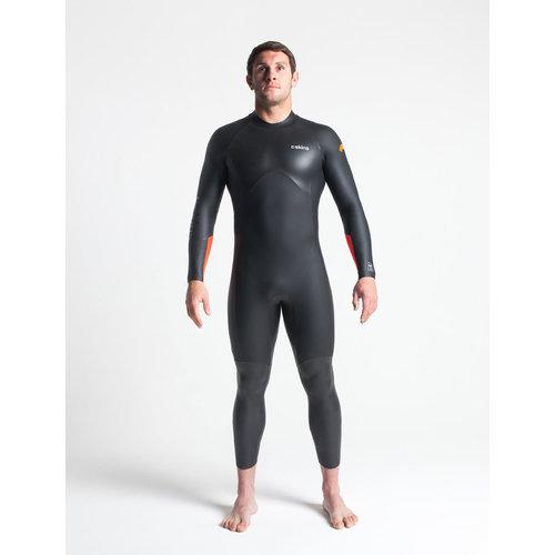 C-Skins C-skins Swim Research 4/3 Heren Wetsuit Black/Orange