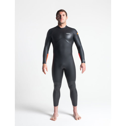 C-Skins C-skins Swim Research 4/3 Heren Zomer Wetsuit Black/Orange