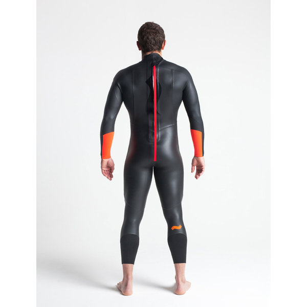 C-skins Swim Research 4/3 Heren Zomer Wetsuit Black/Orange