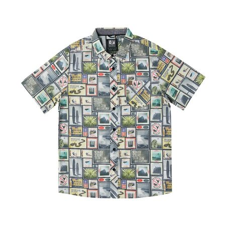 Hippy Tree Hippy Tree Heren Collage Woven Shirt Natural
