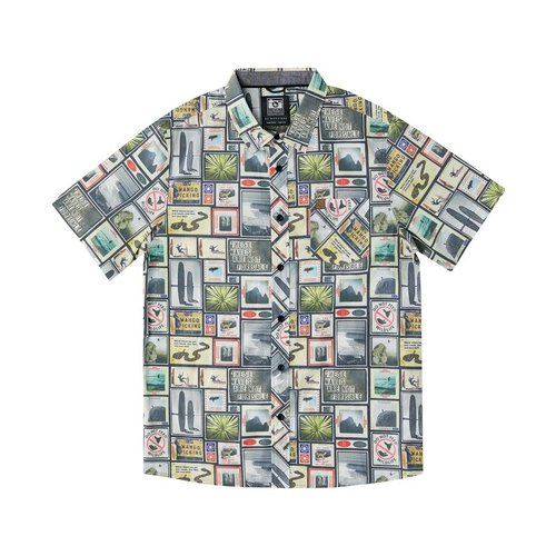 Hippy Tree Hippy Tree Men's Collage Woven Shirt Natural