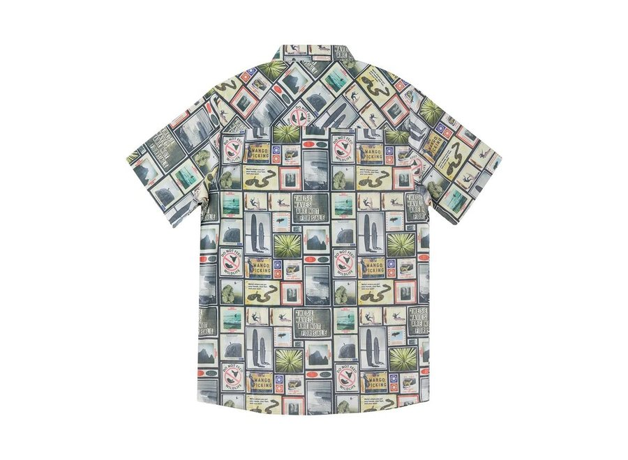 Hippy Tree Heren Collage Woven Shirt Natural
