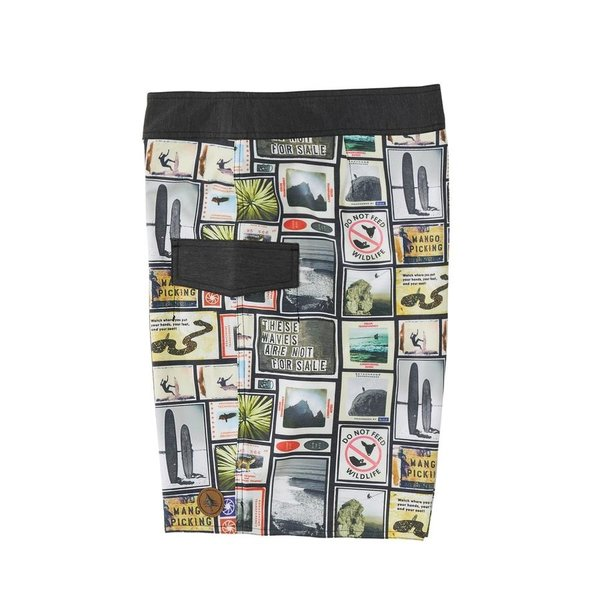 Hippy Tree Heren College Trunk Boardshorts Natural