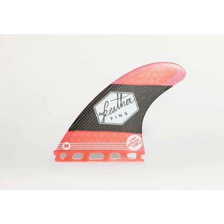 Feather Fins Feather Fins Futures Signatures Jonathan Gonzalez Thruster Fins Red