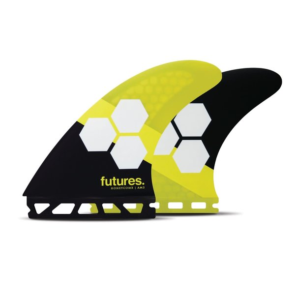 Futures AM2 Thruster Fins Honeycomb Yellow