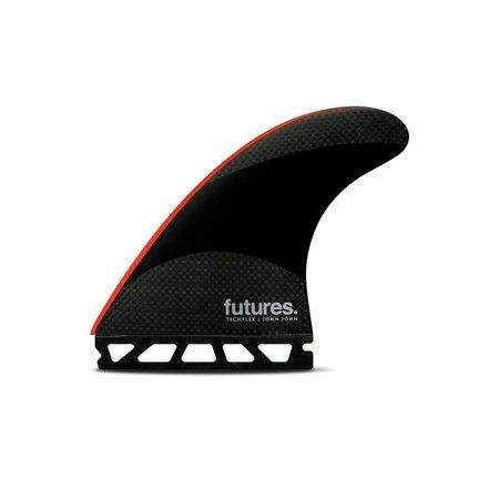 Futures Fins Futures John John Techflex Thruster Fins Red