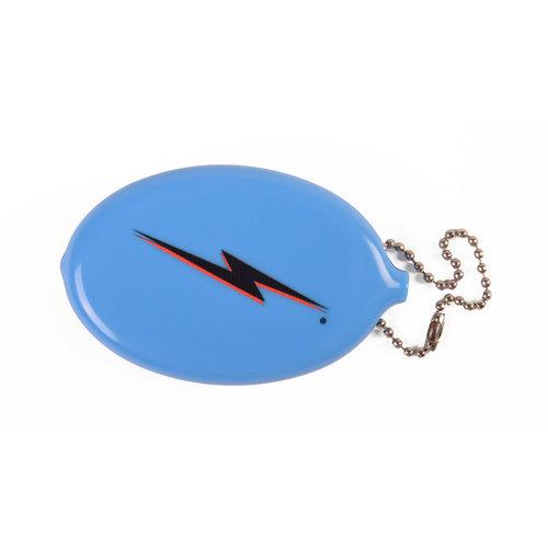 Lightning Bolt Lightning Bolt Quick Coin Keychain Blue