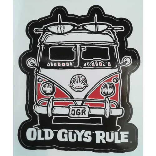 Old Guys Rule Old Guys Rule Surf Van Sticker