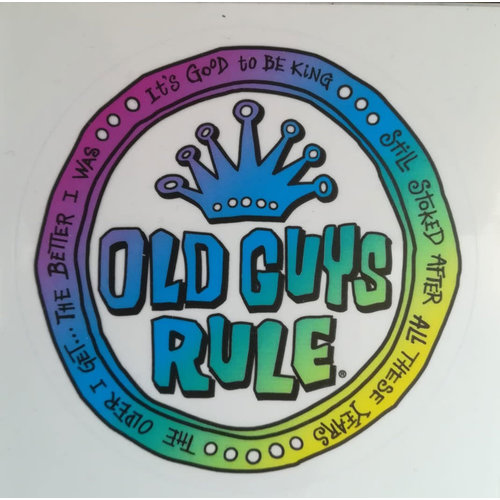 Old Guys Rule Old Guys Rule It's Good To Be King Sticker