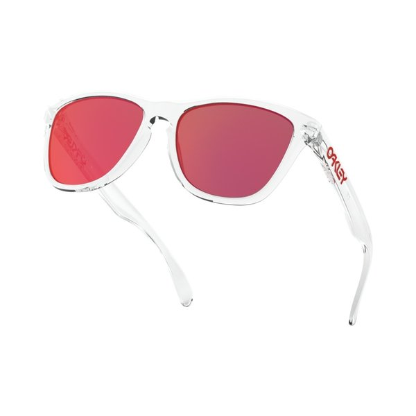 Oakley Frogskins Polished Clear Torch Iridium Zonnebril
