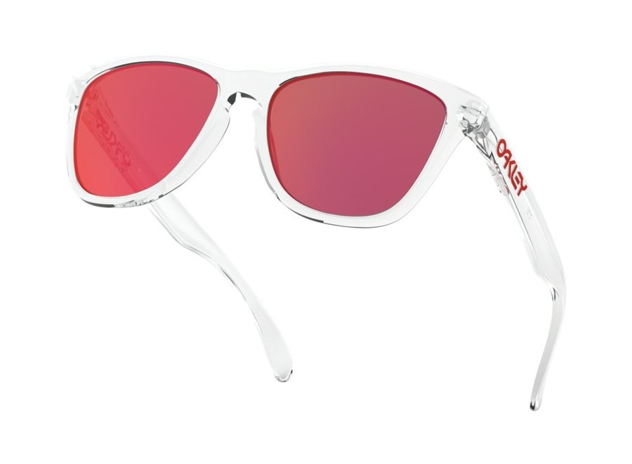 Oakley Frogskins Crystal Clear Torch Iridium Zonnebril