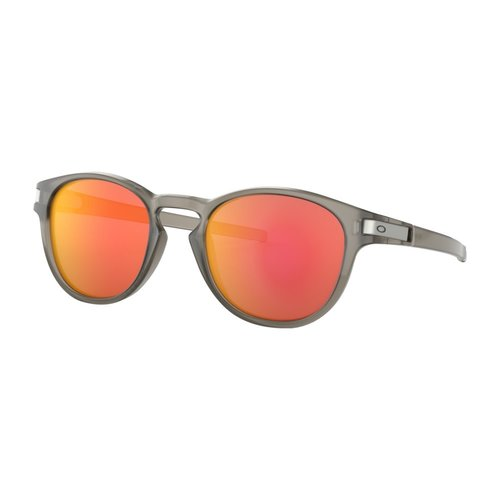 Oakley Oakley Latch Matte Grey Ink Ruby Iridium Zonnebril