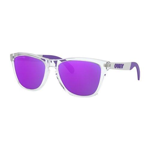 Oakley Oakley Frogskins Mix Polished Clear Violet Iridium Polarized Zonnebril