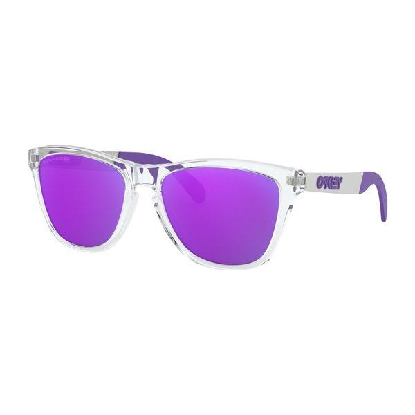 Oakley Frogskins Mix Polished Clear Violet Iridium Polarized Zonnebril