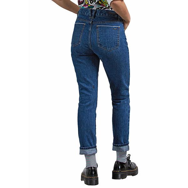 Volcom Dames Super Stoned Skinny Medium Blue Wash