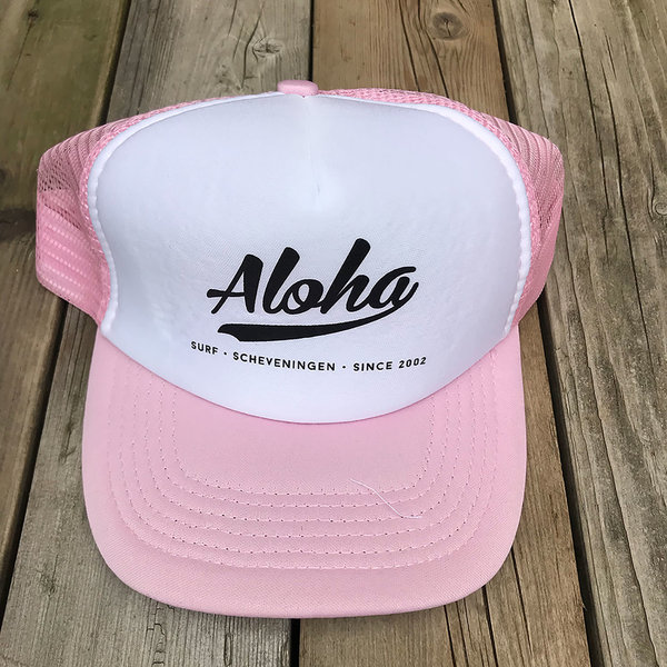 Aloha Logo Trucker Cap Pink