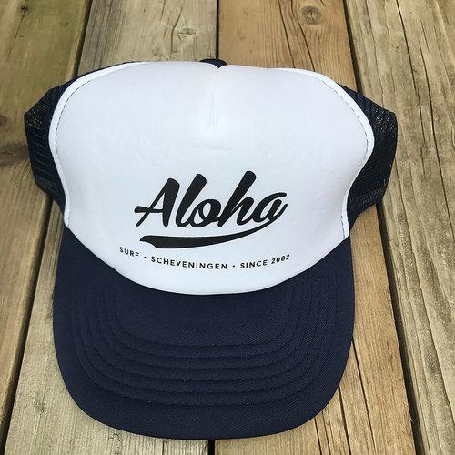 Aloha Surf Huismerk Aloha Logo Trucker Cap Blue