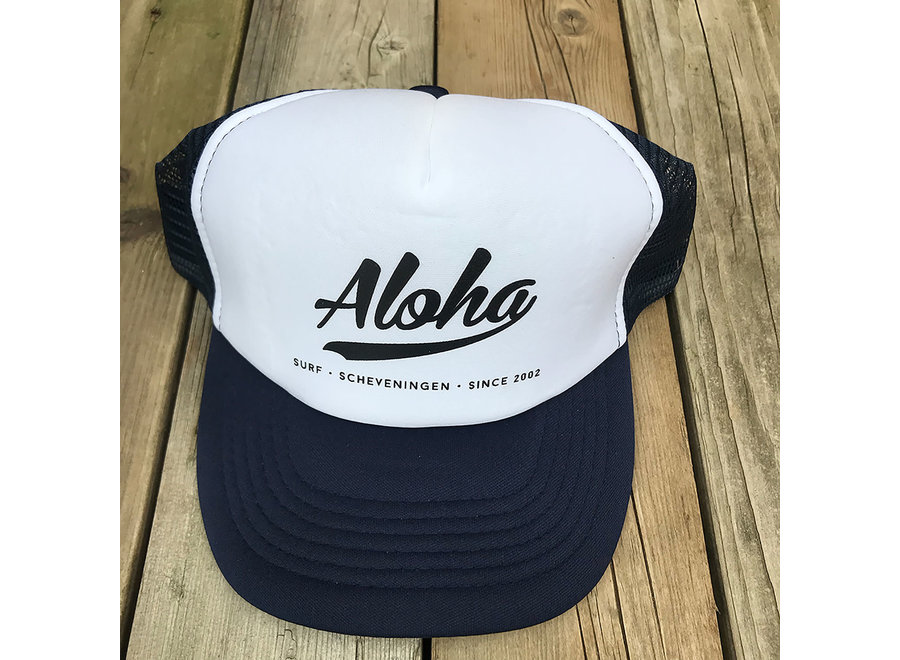Aloha Logo Trucker Cap Blue